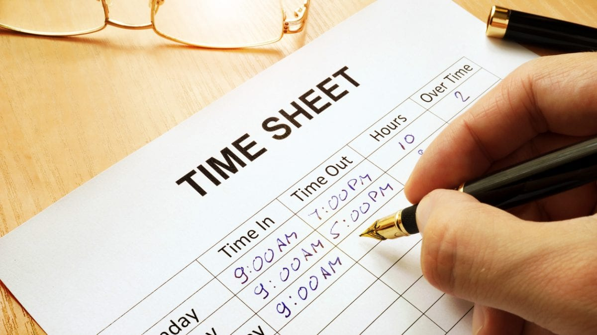 Employee time sheet